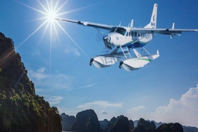 Halong Bay and Lan Ha Bay by Seaplane & Lagoon Explorer Cruise